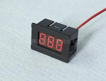 10pcs 0.36'' Mini Digital Voltmeter DC4.5-30V 2 wires Vehicles Motor Voltage Panel Meter 4.5V TO 30V led Display Color:Red hot(China)
