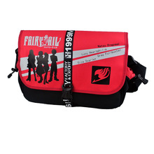 Fashion Brand New Japan Anime Fairy Tail Nylon Messenger Bag Unisex Hasp Cover Shoulder Crossbody Bags Free Shipping