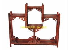 Shelf rosewood mahogany furniture Ming and Qing classical antique wood tea shelf base swing frame factory direct