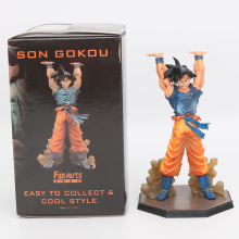 New Hot Comic Anime Akira Toriyama Dragon Ball Z Son Goku Spirit Bomb Ver. Battle 16CM Action Figure Toys