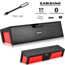 Big power 10W Sardine HIFI portable wireless bluetooth Speaker, Stereo Soundbar TF FM radio subwoofer column for computer player(China)