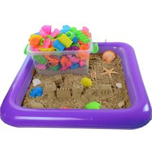 Castle Sand Inflatable Tray Mobile Table Multi-Function Sand Mold Plastic Children Kids Clay Color Mud Toys Indoor Play Sand