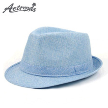 [AETRENDS] Casual Panama Hat Hat Jazz Cap Fedoras Summer Beach Hats Z-5311()