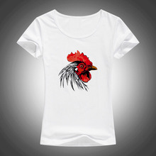 2017 New Women Fashion Latest Cool Brand Animal Design T shirt Novelty Tops Chicken Head Printed Short Sleeve Tees F15