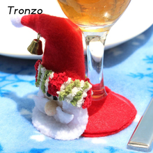 Tronzo Hot Christmas Decorations Santa Claus Cup Mat Cute Reindeer Snowman Table Decor Glass Coasters  Decoration Noel
