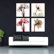 BANMU 4pcs Modern Canvas Print for Wall Decor Paintings Pictures Artwork Abstract Giclee Prints Floral  to Photo No Framed