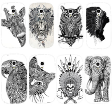 Cool Cartoon Black And White Animal pattern Cute Custom phone case hard Back cover Skin Shell for Samsung galaxy S3 mini I8190