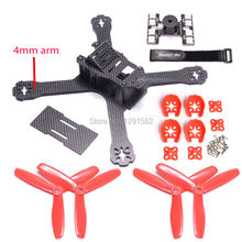 Mini QAV-X 214 214mm FPV Racing Quadcopter with 4mm arm + LED Tail light WS2812B With Loud Buzzer Dual + 5045 propeller