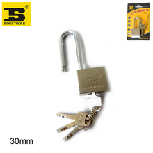 BOSI 30mm long shank brass padlock master lock with 4pc keys