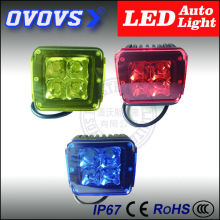 OVOVS red cover work light 3 inch factory supplier 12w led truck light for truck tractor offroad 4x4