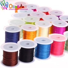 OlingArt 1MM 10M Multicolor flat for elastic cord bead stretch nylon DIY Bracelet choker necklace Jewelry making 2017 New