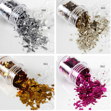 10ml/Box Nail Sequins Gold Silver Champagne Rose Red Glitter Tips Manicure Nail Art Decoration 5009-5012