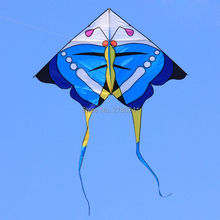 74 inch beautiful Butterfly kite single Line Sport Kites Outdoor fun Sport Toys with flying line(China)