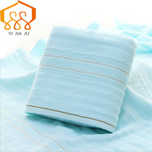 100% Cotton Gauze Solid Color Beach Towel For Adults Fast Drying Soft Thick High Absorbent Antibacterial Bath Towel(China)