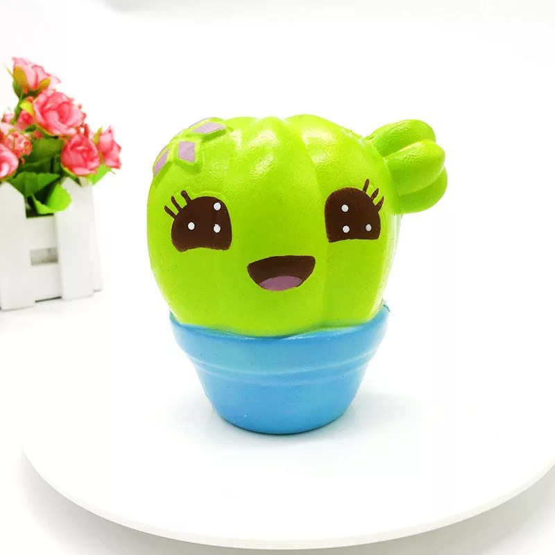 Fun Squishies Cactus Scented Squeeze Healing Squishy Slow Rising Soft Stress Relief Toys Phone Straps Keychain Gift Craft Decors (5)