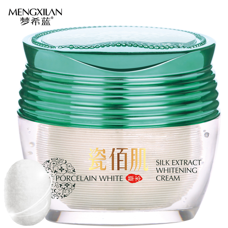 silk whitening face cream Treatment face Removing freckle speckle face care moisturizing skin care anti winkles aging cream 40ml(China)