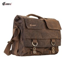 Eirmai SS05(L) Big Size Single  video camera Shoulder Bag Handbag Leisure Canvas Camera Messenger Bag Coffee Color