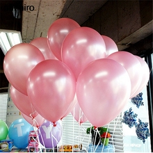 10pcs/lot 10inch Pink Latex Balloons Air Balls Inflatable Wedding Party Decoration Birthday Kid Party Float Cheap Balloons Toys(China)