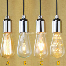 American country long staircase personalized clothing store restaurant bar living room chandelier decorative string Edison lamp
