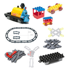 Bulk Train Building Blocks Accessory Coach Cross Track Swtich Railway Bricks Parts DIY Baby Toys Compatible(China)
