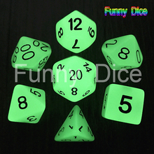7pc/lot Glow in the dark RPG Digital Dice Set D4,6,8,10,10%,12,20 Set Light dnd dice(China)