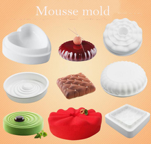 Cheap tiramisu mousse cake silicone mold French dessert cake decoration mold different kinds pudding mousse moldS