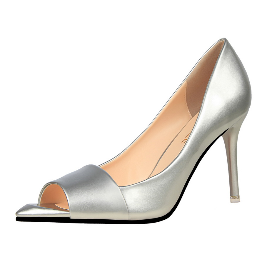 summer peep toe thin heels ol occupational shoes patent leather slip on women high heel stilettos concise shoes multi color<br><br>Aliexpress