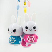 Creative Little Rabbit Music Story Player Kids Toys Baby Early Learning Educational Toys for Children Cute Ear Shiny Rabbit Toys