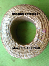 5M/Lot Vintage Electrical Wire Rope Twisted Wire Retro Textile Braided Cable Pendant Light Wire Lamp Cord(China)