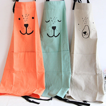 Creative Parent Child Cute Pattern Working Apron Zakka Kitchen Cooking Baking Painting Apron With Pocket(China)