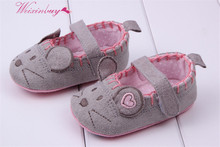 Very Cute soft Little Mouse Princess Baby Shoes For Girl and Boy Baby Shoes 3 size to Choose(China)