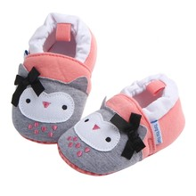 Baby Shoes Infant Boys Girls Soft Cotton Crib Anti Slip Moccasins Toddler Cartoon First Walkers for 3-11 Months 8 Styles(China)