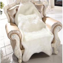 Artificial Sheepskin Fluffy Fur Chair Seat Sofa Cover Carpet Mat Pad Area Rug Bedroom Washable Decorative White Gray Purple Red(China)