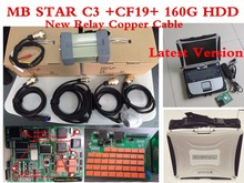 Good quality MB STAR C3 Full Set with MB C3 Software HDD + For Panasonic CF19 Laptop For MB Star Diagnostic Tools by DHL Free