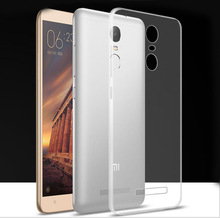 Newest Style Ultra-thin Clear Crystal Soft silicon Covers Transparent TPU Cases for Xiaomi Redmi Note 3 Cheap Covers Accessories