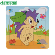 Chamsgend Hedgehog Wooden Kids Children Jigsaw Education And Learning Puzzles Toys Levert Dropship Gift Aug26
