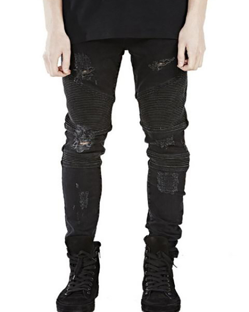 2017 Men Fashion Ripped Jeans Represent Clothing Designer Pants Slp Destroyed Mens Slim Denim Straight Biker Skinny JeansОдежда и ак�е��уары<br><br><br>Aliexpress