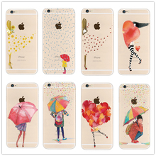 Fashion Flower Cute girl  Peach heart TPU silicone soft  Phone Case Cover For Apple iPhone 4 4S 5 5S 5C SE 6 6S 6 Plus 6 SPlus