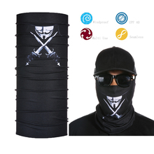 Face Shield Mask Neck Tube Sun UV Protection Black Bandana