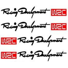 Dewtreetali 4pcs/set WRC Racing Door Handle Stickers Decals BMW MINI Audi VW Volkswagen Skoda Peugeot Citroen Renault