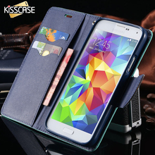 KISSCASE Ultra Thin Flip Magnetic Leather Case for Samsung Galaxy S3 III i9300 Stand Wallet Style Card Slot Phone Back Cover