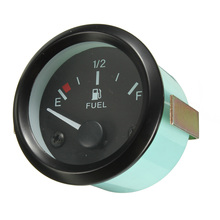 Brand New 2inch 52mm Universal Car Fuel Level Gauge Meter With Fuel Sensor E-1/2-F Pointer