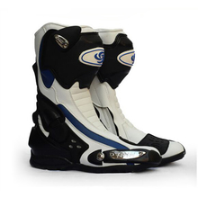 Riding Tribe Speed Microfiber Leather Motorcycle boots Racing Motorbike boots Outdoor Sport Street Road riding Motorboats(China)