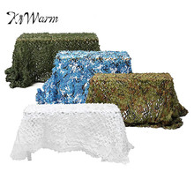 KiWarm 5x2.5M Useful Outdoor Camo Net Military Camouflage Netting Mesh Games Hide Camouflage Net Hunting Camping Net 4 Colors