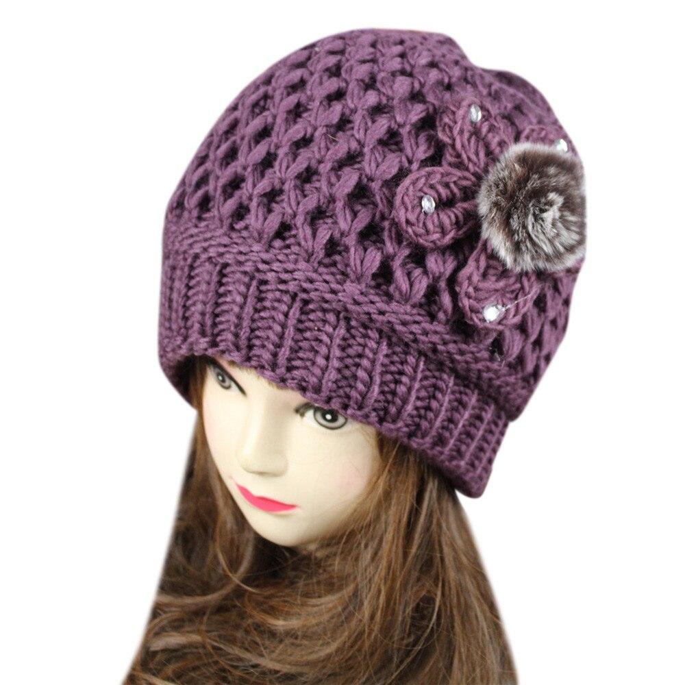 2016 New Fashion Womens Lady Beret Braided Baggy Beanie Crochet Warm Winter Hat Ski Cap Wool Knitted Free ShippingÎäåæäà è àêñåññóàðû<br><br><br>Aliexpress