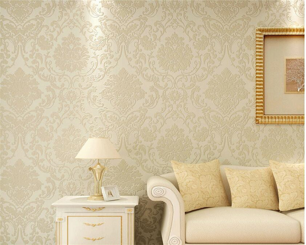 Beibehang papel de parede Simple European Damascus Spray Gold Relief 3D Wallpaper  Living Room Background 3d Wallpaper volume<br>