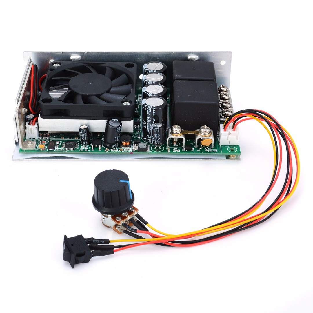 100A 50V 12V 24V Reversible DC Motor Speed Controller PWM Waterproof Alu Case