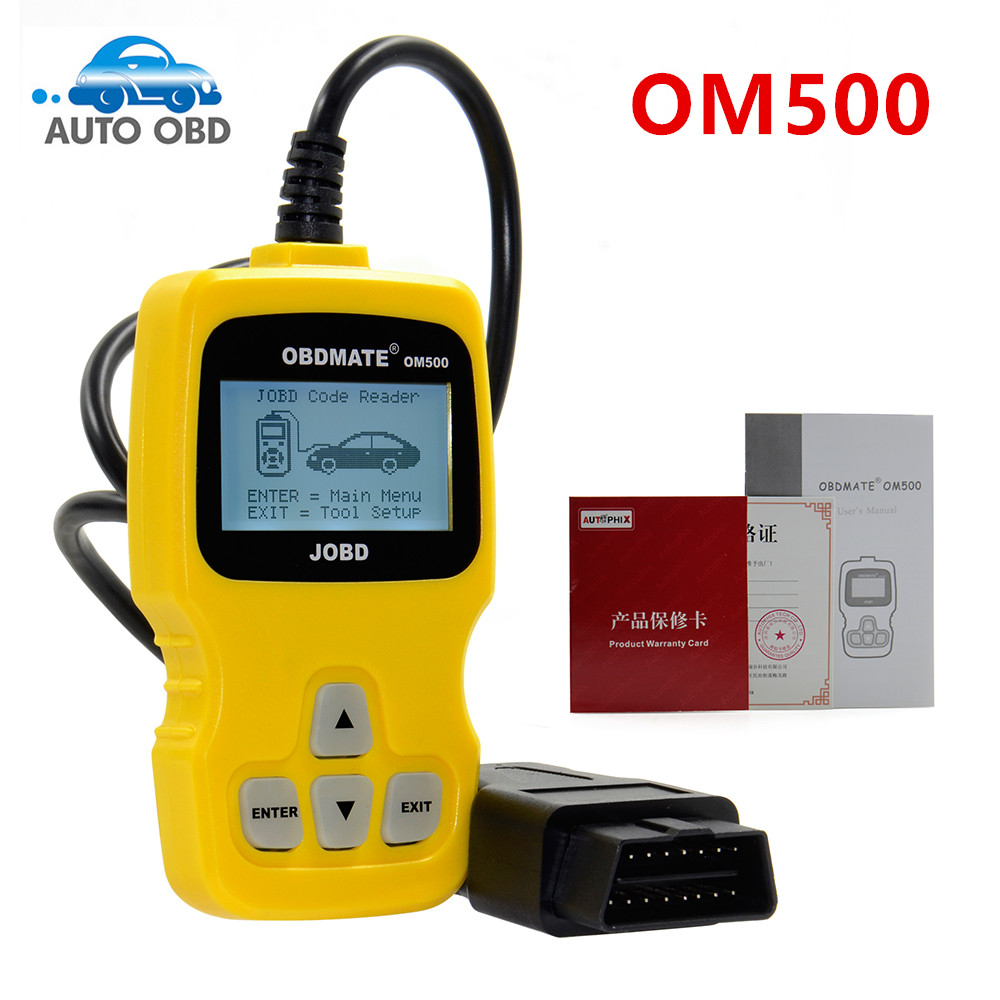 OM500 OBD2 Code Readers Scan Tool OBDMATE OM500 JOBD OBDII EOBD Code Reader for TOYOTA/HONDA/DAIHATSU/SUBARU Diagnostic Scanner(China (Mainland))