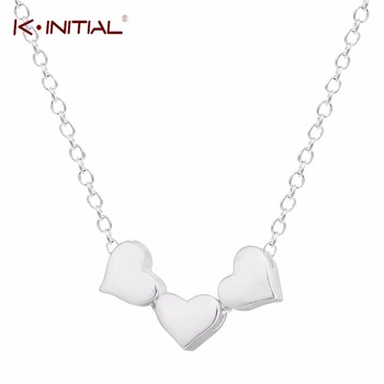 1Pcs 925 Silver Heart Necklace & Pendant Women/Men Lovers