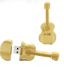 Free Shipping wood guitar USB Flash Drive 128gb Pendrive 64gb 32gb 16gb 8gb 4gb USB Pen Drive Mini Memory Stick(China)